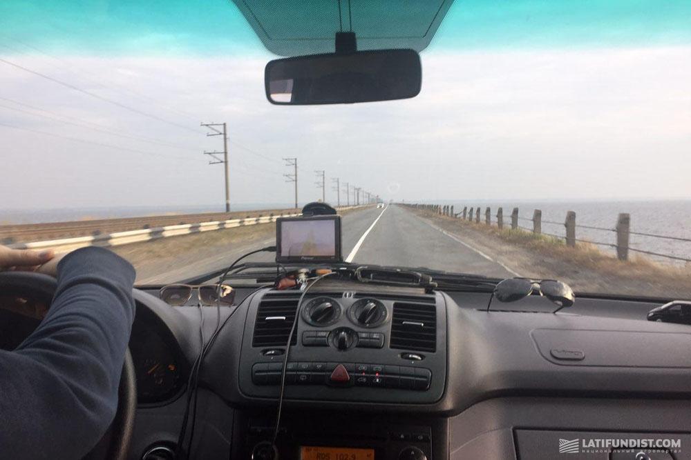 По дороге к фермерскому хозяйству «Дослидне»